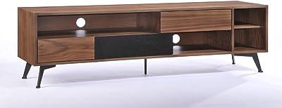 VIG Furniture Modrest Garrison Modern Walnut & Black TV Stand
