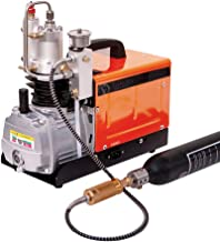 110V Air Compressor Pump 30Mpa 4500psi Pressure Preset Auto-stop Air Pump Booster for Inflation Bottle Pneumatic Airgun Scuba Rifle PCP Inflator