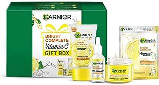 Garnier VITAMIN C Gift Box (Bright Complete Brighgtening Facewash 150g, Bright Complete Vitamin C Serum 30ml, Bright Compl...