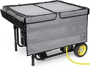 IGAN Generator Tent Running Cover, Ultra Heavy Duty Tarpaulin Enclosure, Portable All-Weather Generator Rain Shelter for Most 3500w-12000w generators, Gray