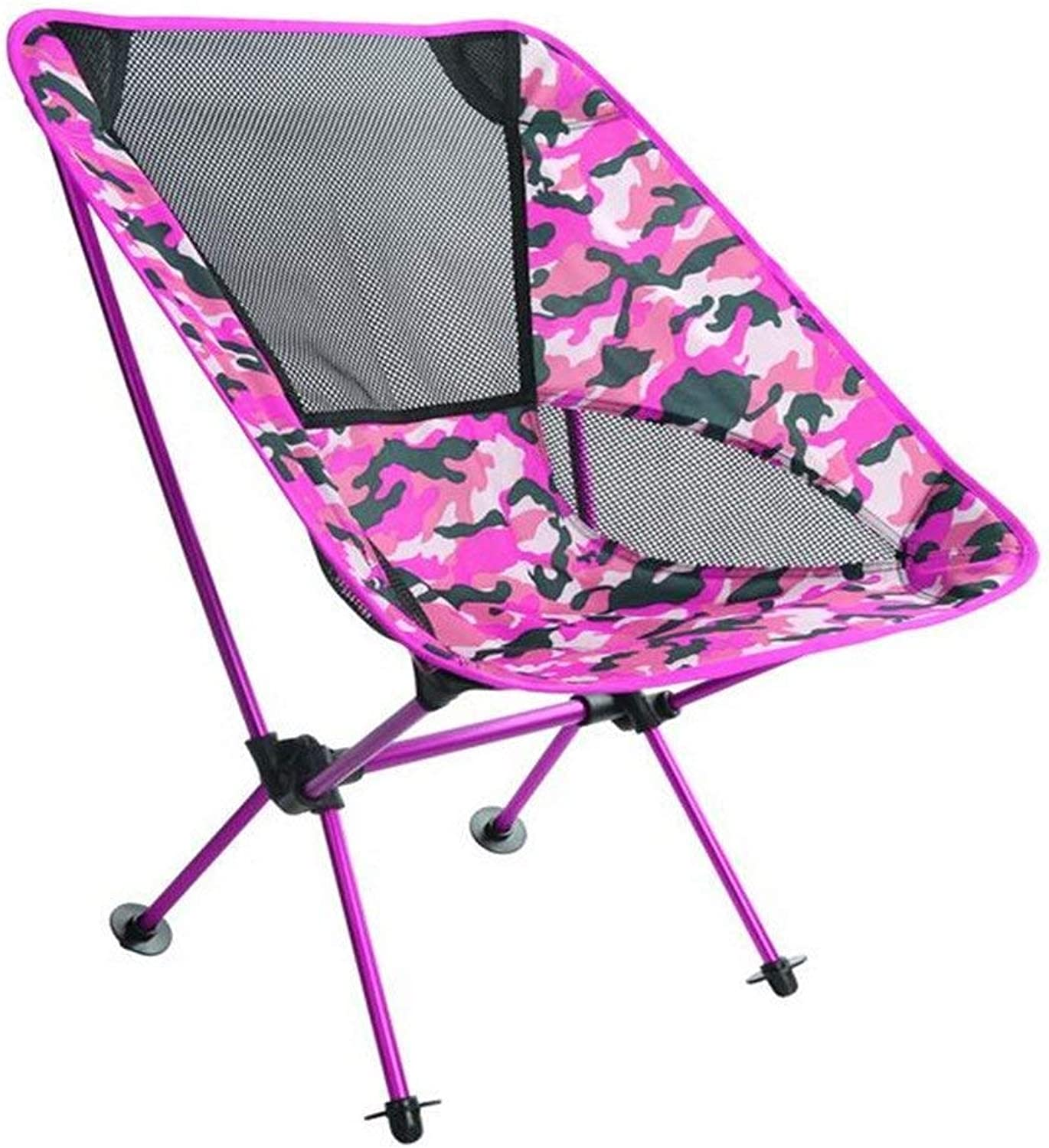 IRVING Lightweight Portable Camping Chair Outdoor Folding Backpacking Camp Lounge Chairs for Sports Picnic Beach Hiking Fishing (color   E)