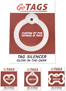 GoTags Dog Tag Silencers, Glow in The Dark Silencer to Quiet Noisy Pet Tags