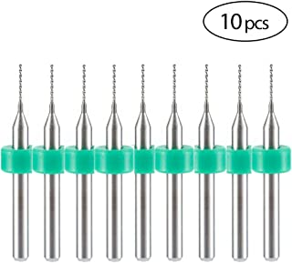 HUHAO Drill Bits Set 1/8 Shank 0.55mm CED Drill Bits for 3D Printer Nozzle Cleaning Makerbot Mendel Reprap Pack of 10PCS