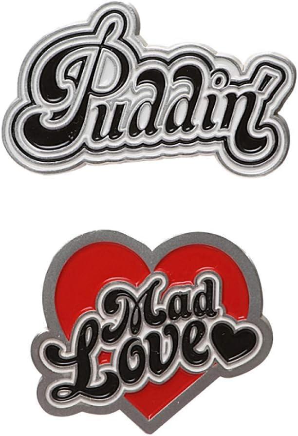 Pair of Genuine DC Comics Pin Harley Badges Genuine Free Shipping Quinn Gorgeous