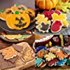Hibery 12 Piece Fall Cookie Cutters, Pumpkin Leaf Turkey Cookie Cutters, Thanksgiving Holiday Cookie Cutters Set - Maple Leaf, Turkey, Pumpkin, Acorn, Oak Leaf, Squirrel #2