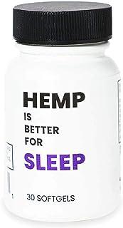 HEMP IS BETTER for Sleep   Natural Sleep Aid   750mg Hemp Extract + Melatonin, and Terpenes   Vegan Softgel...