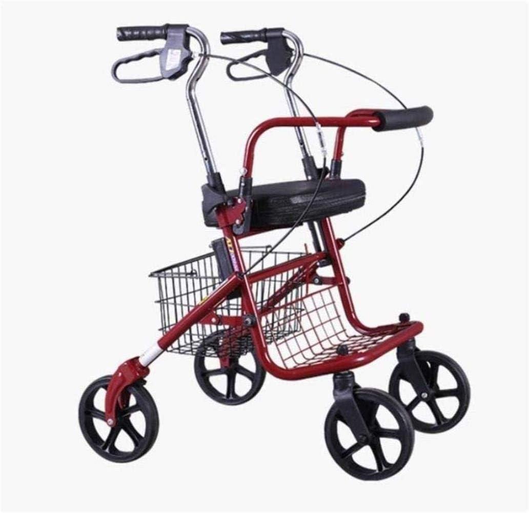 Walking Frame Folding Rollator Max 43% OFF Walker Basket Storage with Light Financial sales sale