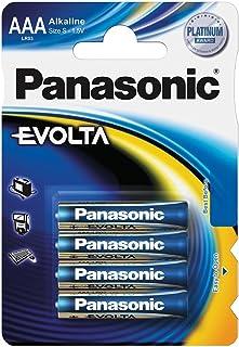 Panasonic Evolta Alkali Batterie, AAA Micro, 4er Pack, für energieintensive Produkte, Alkaline