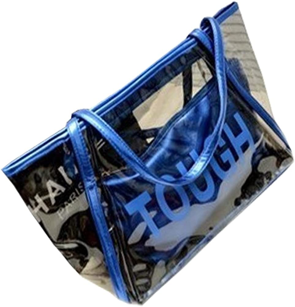 FTSUCQ Womens Casual Tough Tote Transparent Handbag Should San Francisco Mall Beach Cheap mail order specialty store