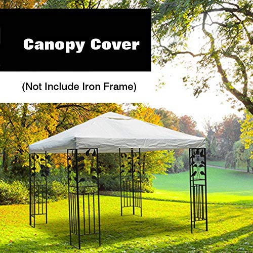 Tent Top Cover 10×10ft (Only Cover) - Patio Gazebo Top Cover Replacement Cover For Outdoor Garden Beach Camping Porch Patio Swing