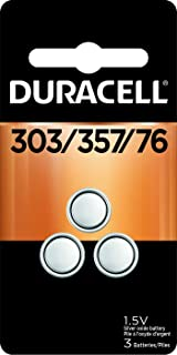 Duracell – 303/357 1.5V Silver Oxide Button Battery – long-lasting battery – 3 count