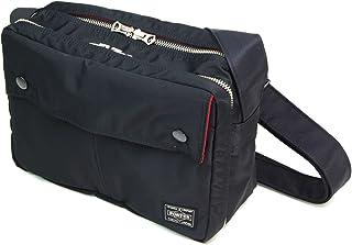 ポーター エルファイン 【PORTER L-fine】 PORTER×ILS共同企画 スクエアショルダーバッグ Square Shoulder Bag 【LYD383-06692】 ブラック 裏地=レッド Black Backing=Red
