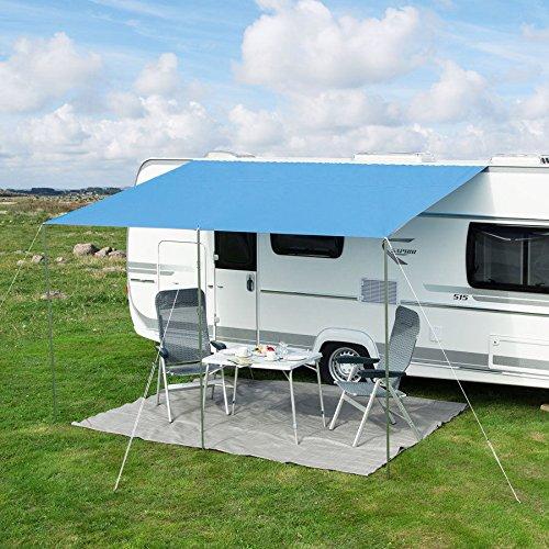 Sonnenvordach Playa 400 x 240 cm blau
