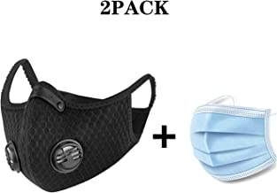 ADESUGATA Anti Pollution Sports Mask(Activated Carbon Air Filters and 2 Valves Included)..