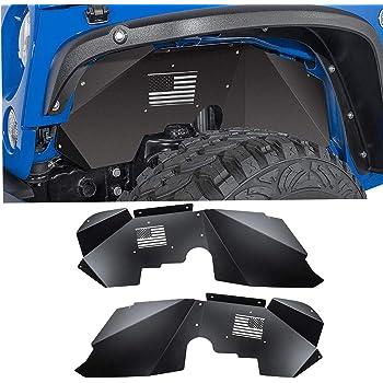 Moker 52612 Solid Aluminum Front Inner Fender Liners for 2007-2018 Jeep Wrangler JK 4WD