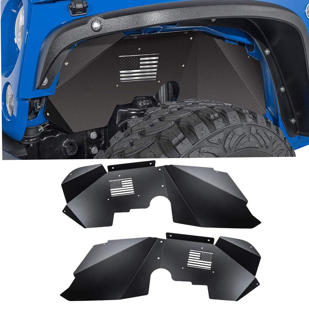 E-cowlboy Front+Rear Inner Fender Liners for Jeep Wrangler JK JKU ...