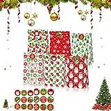 Bolsa de navidad,Bolsas de Papel,bolsas de papel para,Bolsas Regalo Papel,Cajas de Regalo,Bolsas de Regalo,Bolsas Papel,Bolsas para Chuches,Kraft para Navidad (Rojo verde)