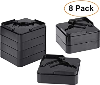 OCEANPAX Set of 8 Pack Adjustable Bed Risers Desk Risers Under Bed Storage Lifts Heavy Duty Furniture Frame