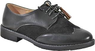 by Shoes - Derbies Bi Matière Effet Daim et Style Cuir - Femme