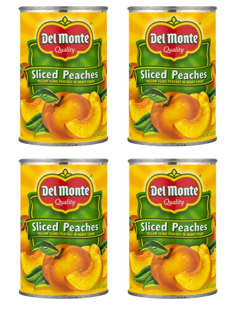 Attention Nippon regular agency brand Del Monte Yellow Cling Sliced Peaches 15.25 4 Pack of oz