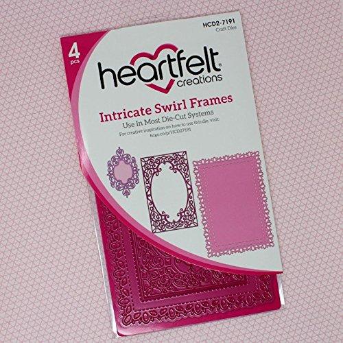 Heartfelt Creations Frame A Card Dies-Intricate Swirl Frames