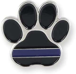 K9 Pawprint Police Lapel Pin (1 Pin)