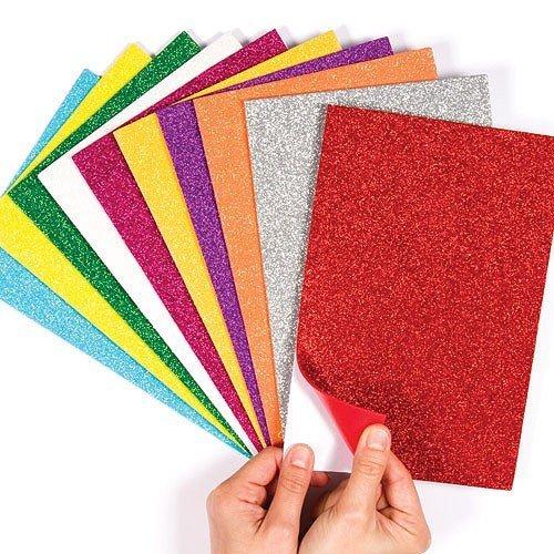 Glitter Foam Sheets Sticky Back Foam Sheets Pack of 10