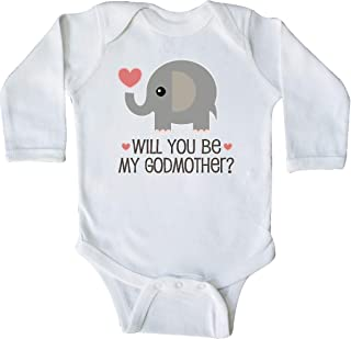Will You Be My Godmother Long Sleeve Creeper 34a12