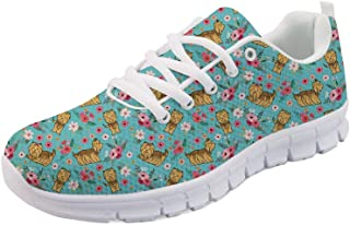Women Lovely Walking Sneakers Lightweight Breathable Flat Sports Running Tennis Shoes Size 6-10