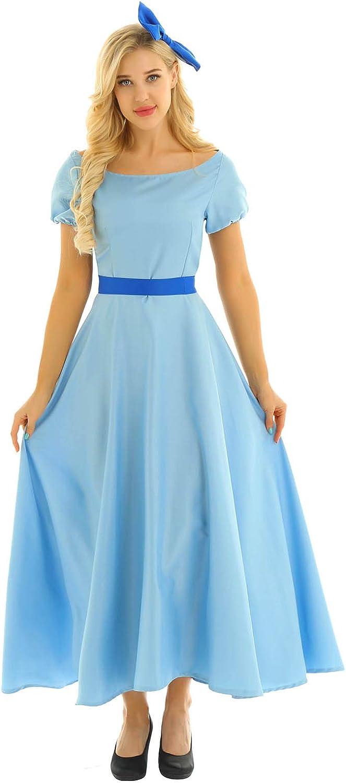 YiZYiF Womens Adult Anime Princess Credence Dress SALENEW very popular Halloween Fancy Cosplay