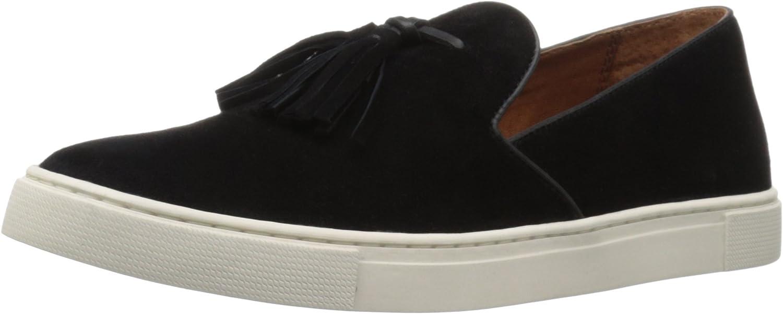 Frye Women's Gemma Tassel Slip Fashion Sneaker Black