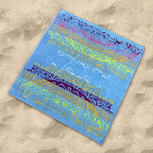Sibiles - Toalla Playa Grande Doble de 175x150 cm Algodón Egipcio 100% Munna, 8435563728795