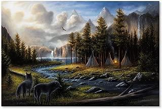 Wild America by Chuck Black, 22x32-Inch Canvas Wall Art