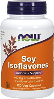 NOW Supplements, Soy Isoflavones, 60 mg (Plant Compounds Particularly Concentrated in Soybeans, like Genistein, Daidzein a...