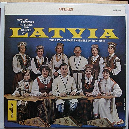LATVIAN FOLK ENSEMBLE OF NEW YORK / LATVIA / Bildhülle mit 2seitiger ORIGINAL Text-Beilage / monitor # MFS 466 / Amerikanische Pressung / 12