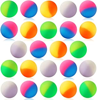 Pllieay 48 Pieces Super Balls 32mm Include 4 Kinds of Two Tone Color Bouncy Balls