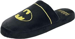 DC Comics Batman Mula Pantuflas - Negro, Grande