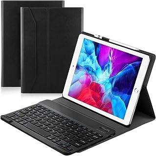 Ewin ipad10.2/iPad10.5 キーボード付き ケース 2020モデルipad第8世代 2019モデル 第7世代適用 ipad bluetooth キーボード 全面保護型 ペンホルダー付き 日本語説明書付き