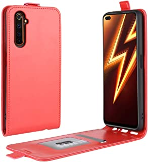 Cellphone case For OPPO Realme 6 Pro R64 Texture Single Vertical Flip Leather Protective Case with Card Slots & Photo Frame