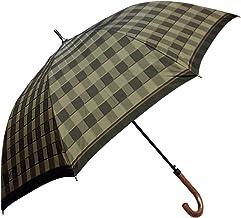 NOBEL(ノーベル) メンズ 雨傘 長傘 日本製 ジャンプ ワンタッチ 甲州織り 朱子格子生地 碁盤柄 おしゃれ スタイリッシュ
