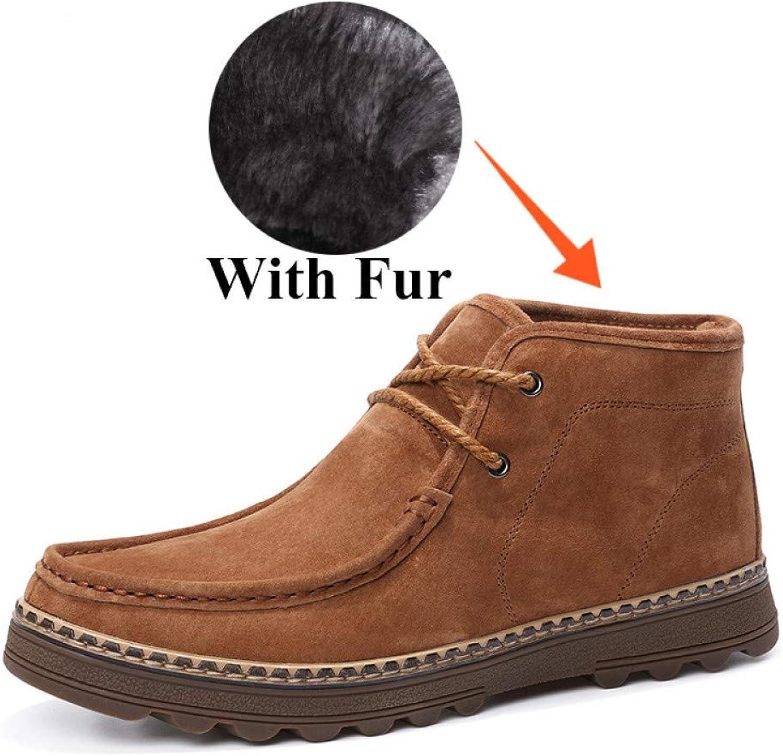 FHCGMX ny Split läder Mode Mode Mode Ankle Stövlar Manliga skor Vuxna för män Winter Warm Work Business Footwear  Alla produkter får upp till 34% rabatt