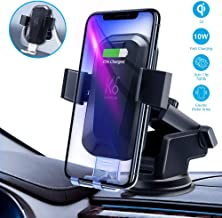 KRONIUM Wireless Car Charger Mounts for iPhone Xs XS Max X 8 8 Plus 7 7 Plus SE 6s 6 Plus 6 5s 5 4s 4 Galaxy S6 S5 S4