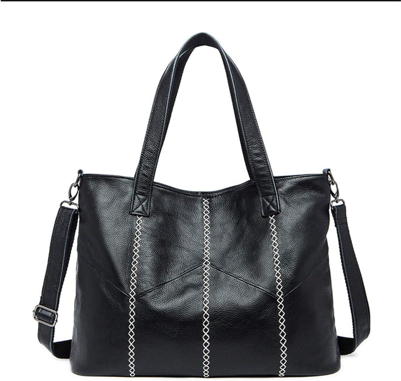 XOXO Multifunktion Leder Damen-Schulter-Casual-Tasche Portable Diagonal Diagonal Diagonal Leder Handtasche Große Kapazität (Farbe   Schwarz) B07GLHZT4T 76076b