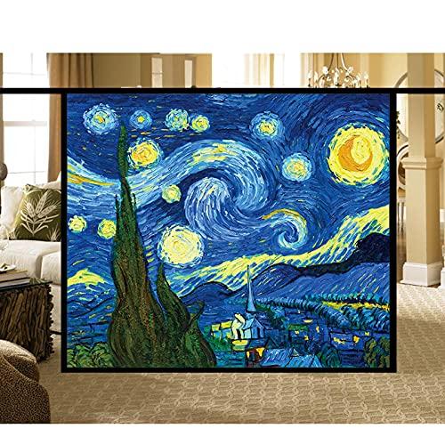 Frostat Dekorativt Stained Glass Sticker, Religiös stil Dekorativ Sekretess Frostat No-lim Klistermärken För Hemmakontor Fönsterfilm -Van Goghs Starry Sky,A,60x90cm(24x36)