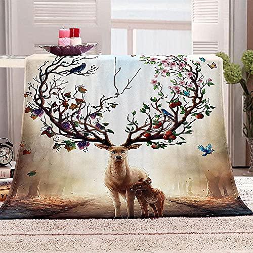 Bedruckte Fleecedecke mit 3D-Spongebob-Cartoon-Motiv, wendbar, warme Decken für Bett, Couch & Sofa, Stuhl, Kabine, Reise, Tagesdecke, 130 x 150 cm