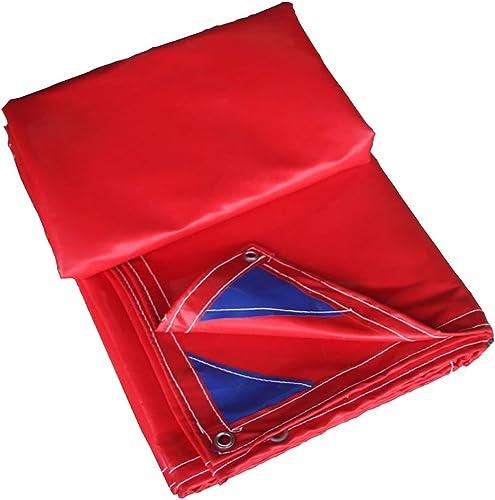 Tarpaulin HUO Bache Forte Rouge, Tissu De Pluie De Multi-Purpose, Matériel Anti-UV De DIY, 400g   M2 (Couleur   Rouge, Taille   5  8M)