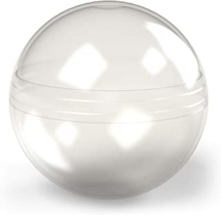 Clear Round Capsules - 3 Inch Empty Plastic Capsules - 14 Pcs Toy Capsules - Bath Bombs Molds - Large Easter Eggs - Plasti...