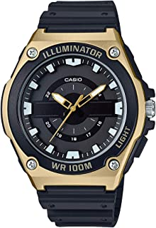 Men's Quartz Watch with Resin Strap, Black, 18.5 (Model: MWC-100H-9AVCF)