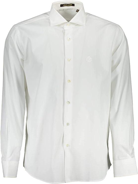 Roberto Cavalli FST724 - Camisa de manga larga para hombre ...