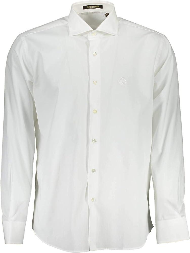 Roberto cavalli,camicia maniche lunghe per uomo,100% cotone FST724
